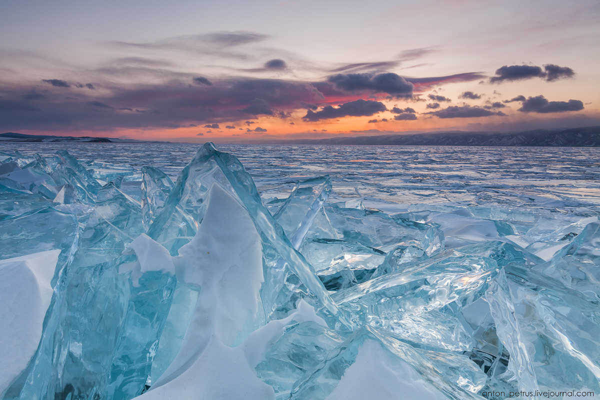 Glass sunset. Baikal 10