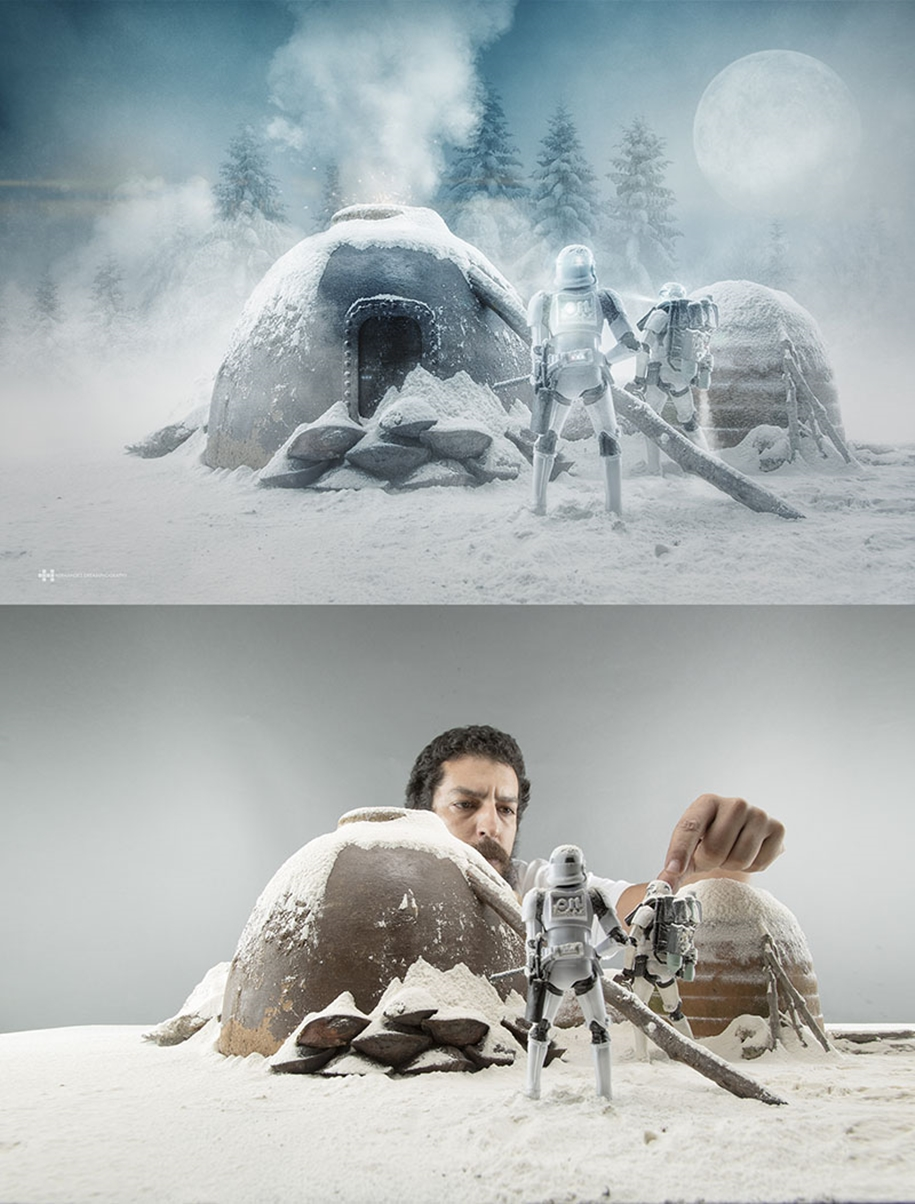 Mexican photographer creates wonderful fotolii using toys 10