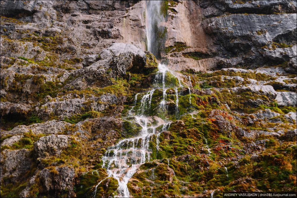 Of Adygea. Przejsciu waterfall 13