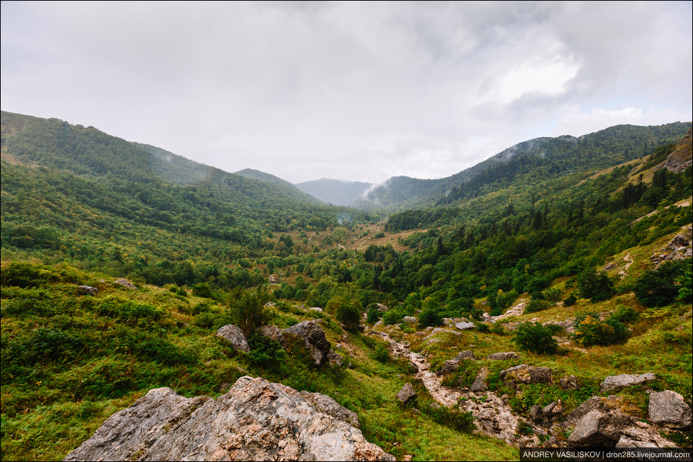 Of Adygea. Przejsciu waterfall 17