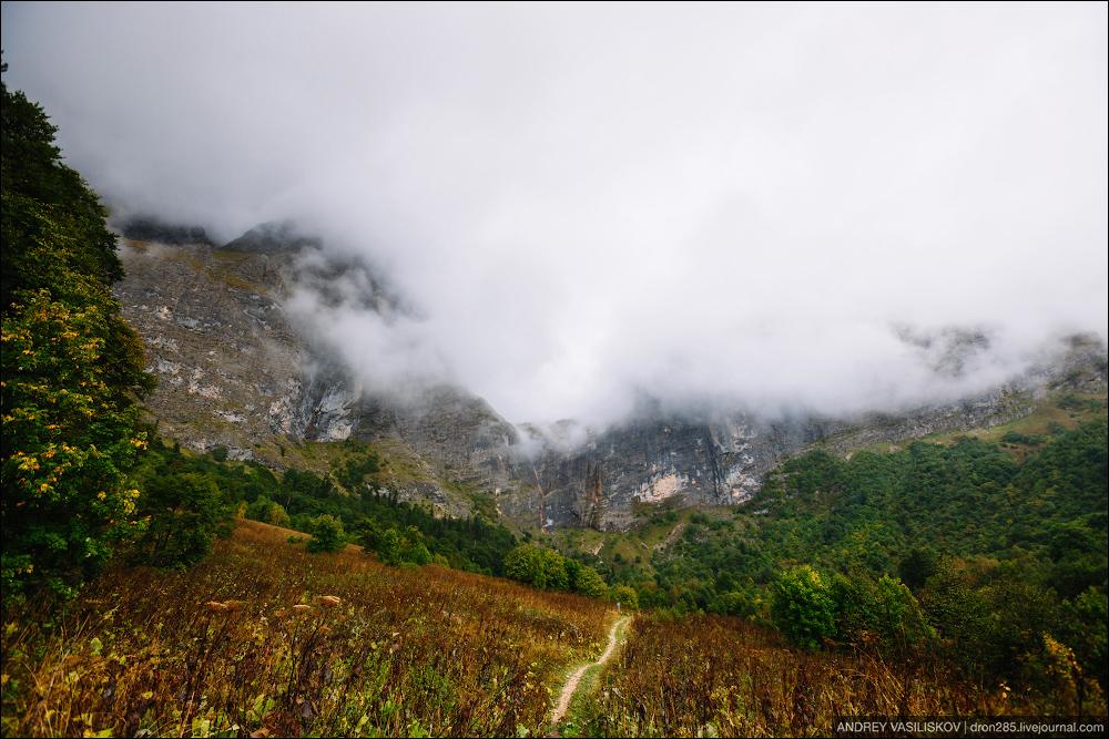 Of Adygea. Przejsciu waterfall 23