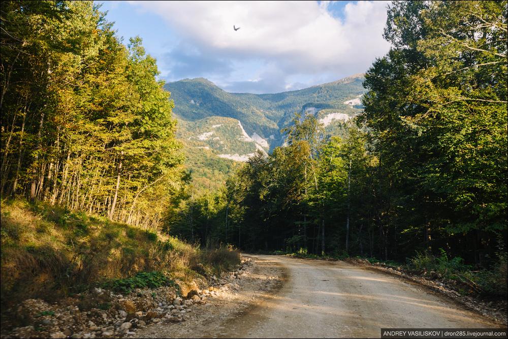 Of Adygea. Przejsciu waterfall 24