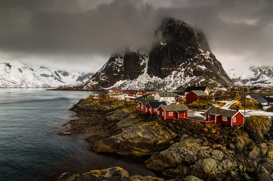 Winter landscapes of the Lofoten Islands 01