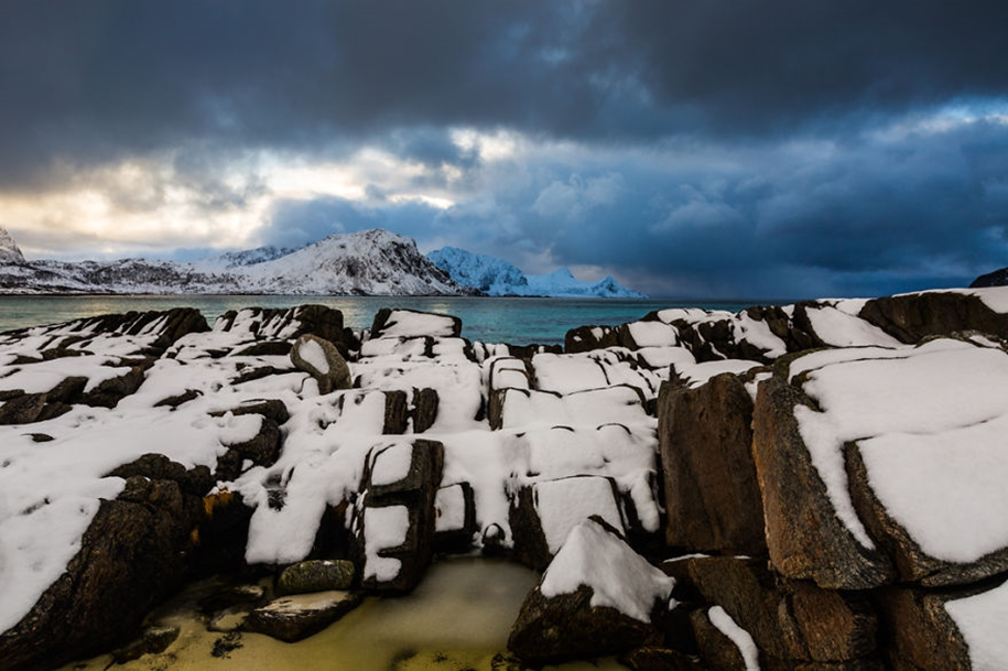 Winter landscapes of the Lofoten Islands 08