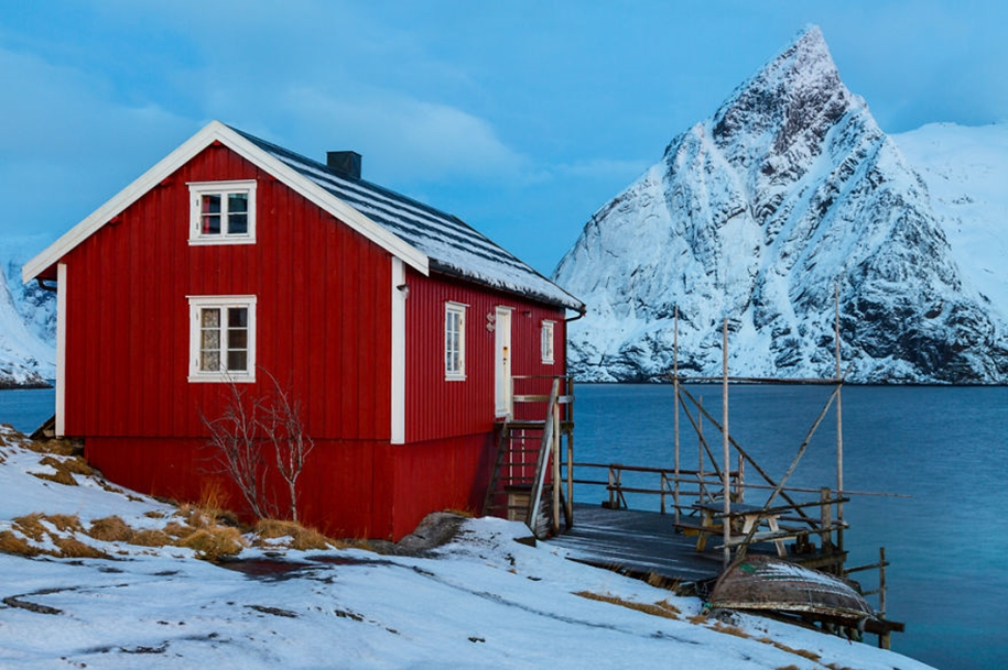 Winter landscapes of the Lofoten Islands 09