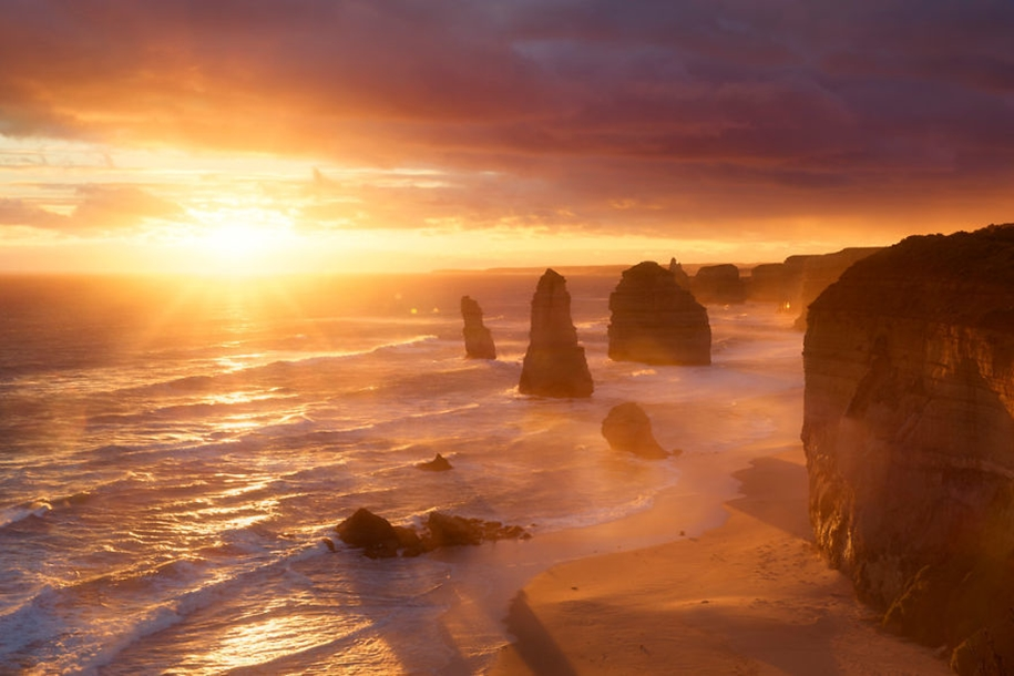 Beautiful sunrises in the most beautiful places of the world 21
