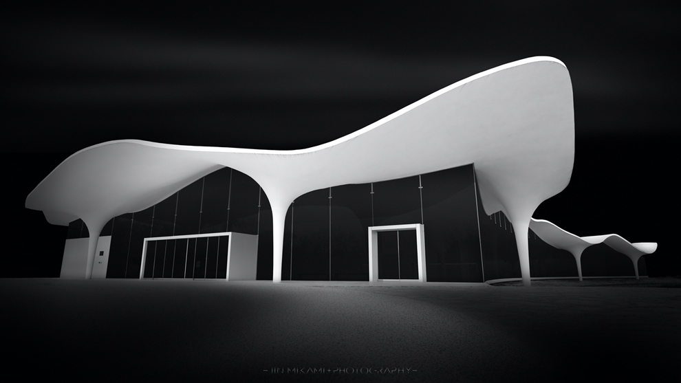 Black and white architecture from the photographer Jina Mikami 18