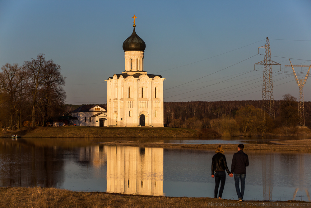Church of the Intercession on the Nerl dawn 02