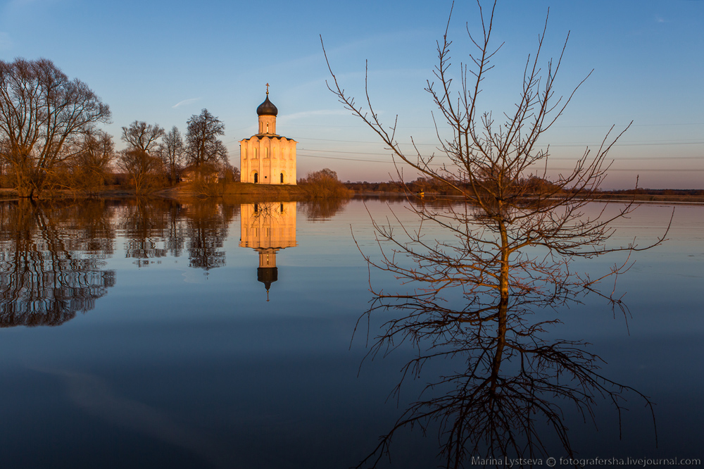 Church of the Intercession on the Nerl dawn 04