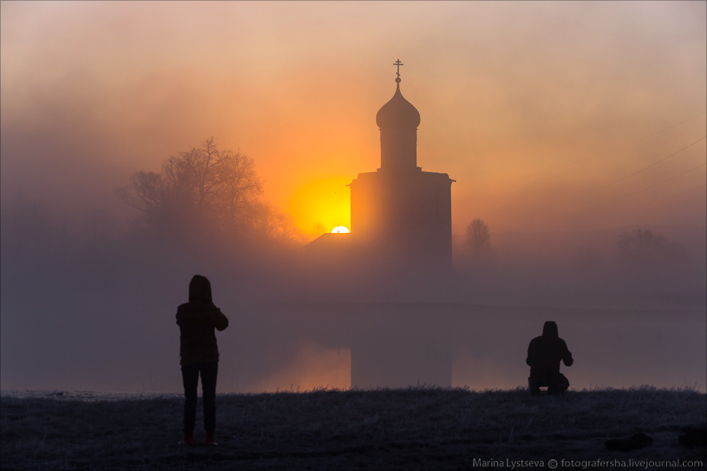 Church of the Intercession on the Nerl dawn 16