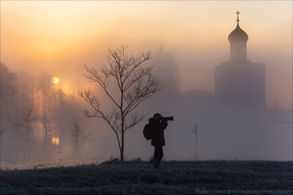 Church of the Intercession on the Nerl dawn 19