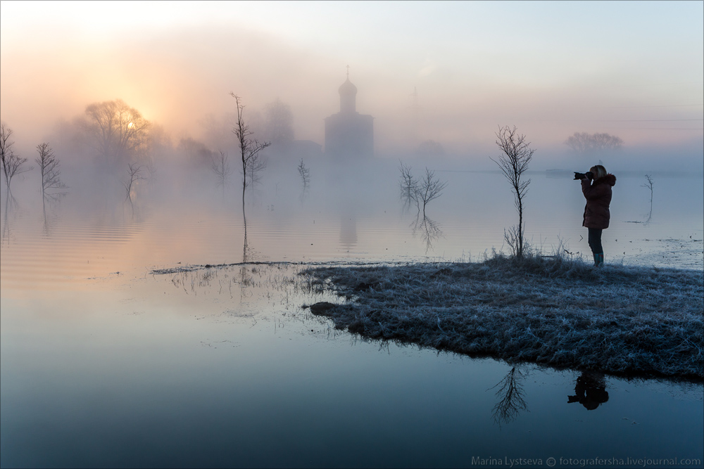 Church of the Intercession on the Nerl dawn 20