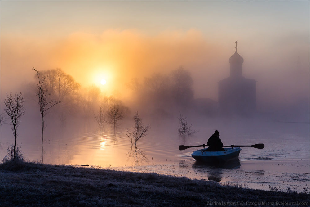 Church of the Intercession on the Nerl dawn 23