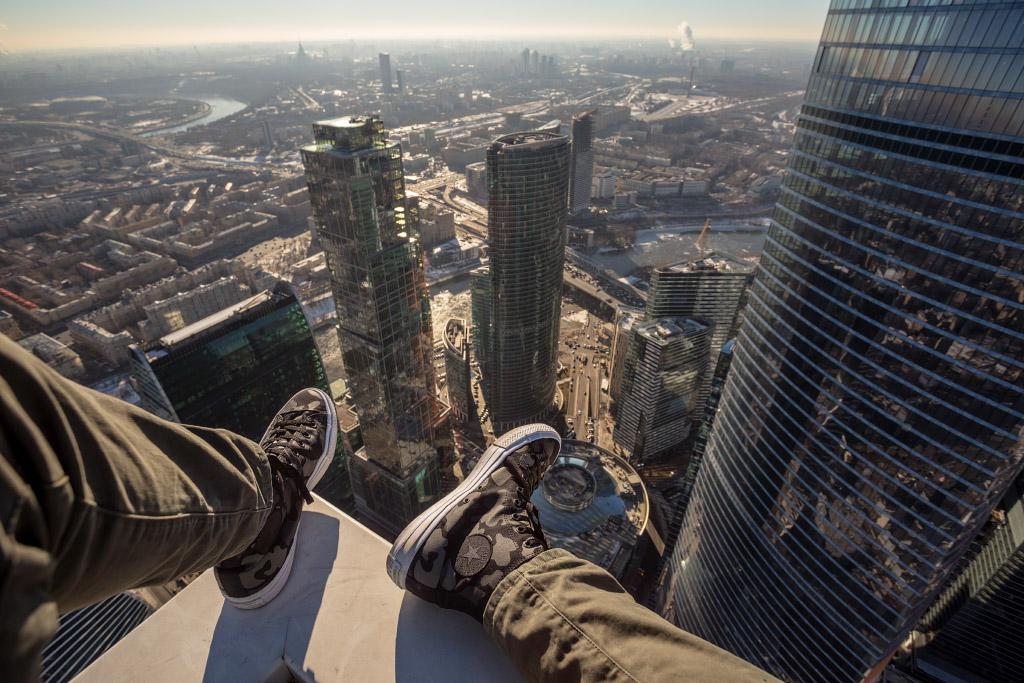 Подъём на одну из башен Москва-Сити