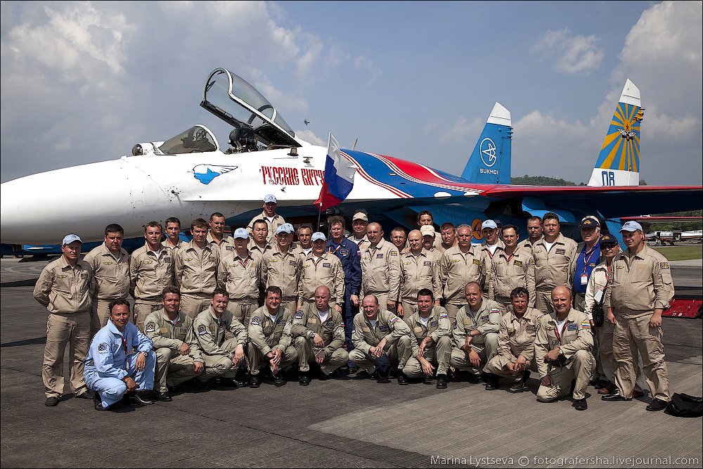 The anniversary of the aerobatic team -Russian Knights- 02