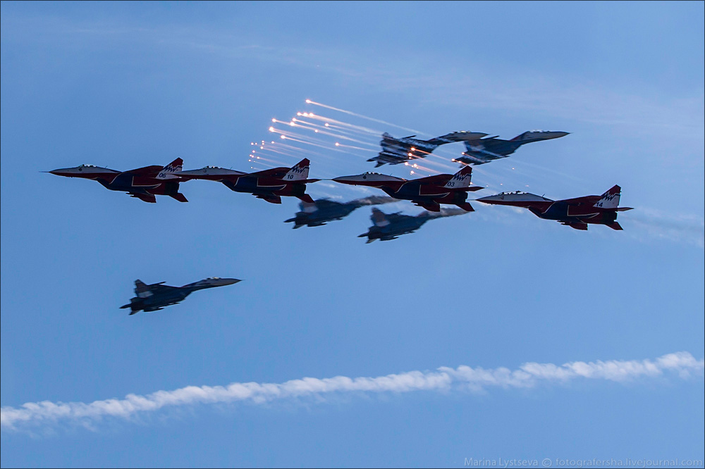 The anniversary of the aerobatic team -Russian Knights- 05