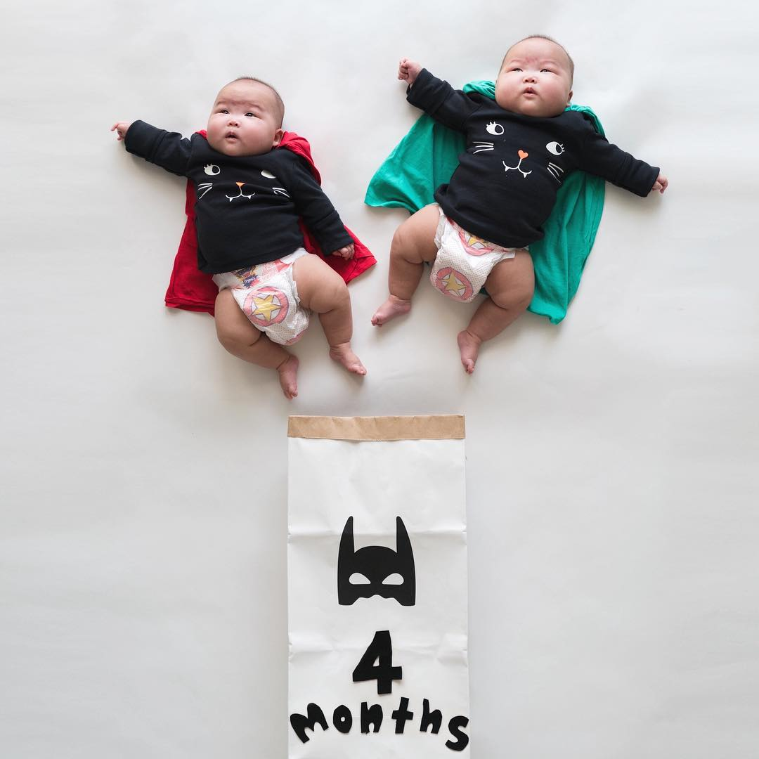 The twins in the wonderful photo shoot, which was created by the mother 06
