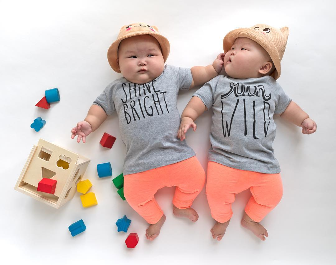 The twins in the wonderful photo shoot, which was created by the mother 12