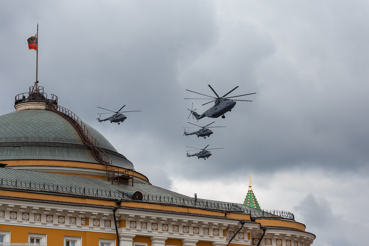 A rehearsal of aircraft parade on Victory Day 02