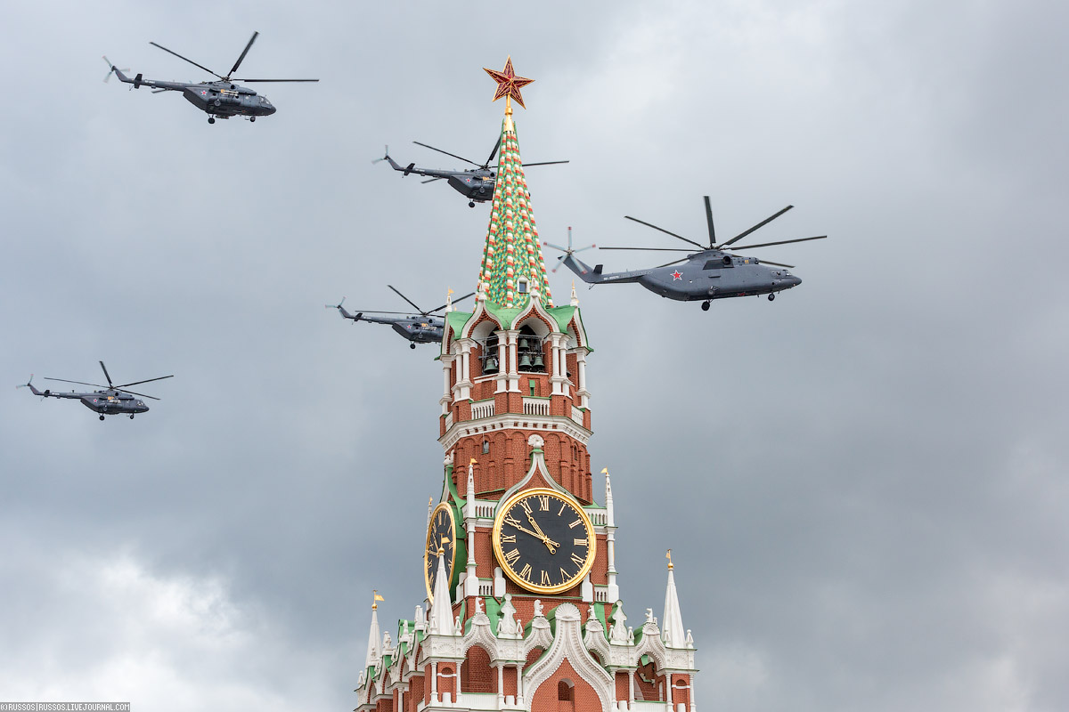 A rehearsal of aircraft parade on Victory Day 03