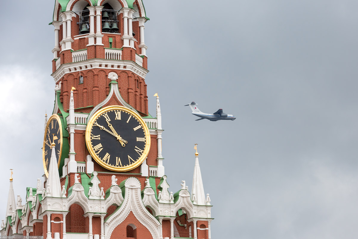 A rehearsal of aircraft parade on Victory Day 05