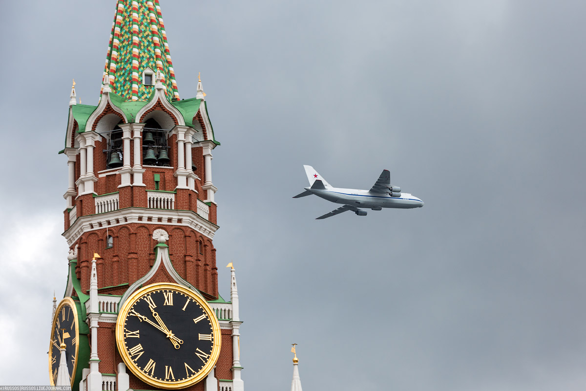 A rehearsal of aircraft parade on Victory Day 06