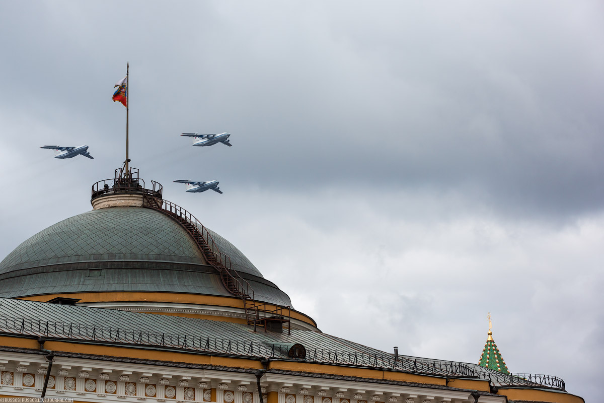 A rehearsal of aircraft parade on Victory Day 07