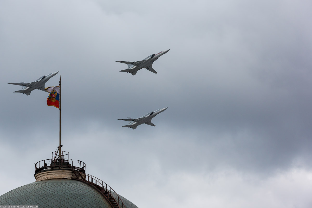 A rehearsal of aircraft parade on Victory Day 10