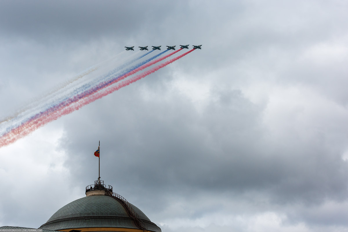 A rehearsal of aircraft parade on Victory Day 17