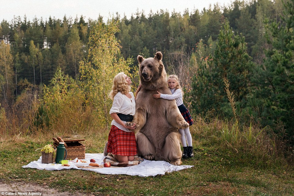 Bear Stepan and his unusual life in a Russian family 12
