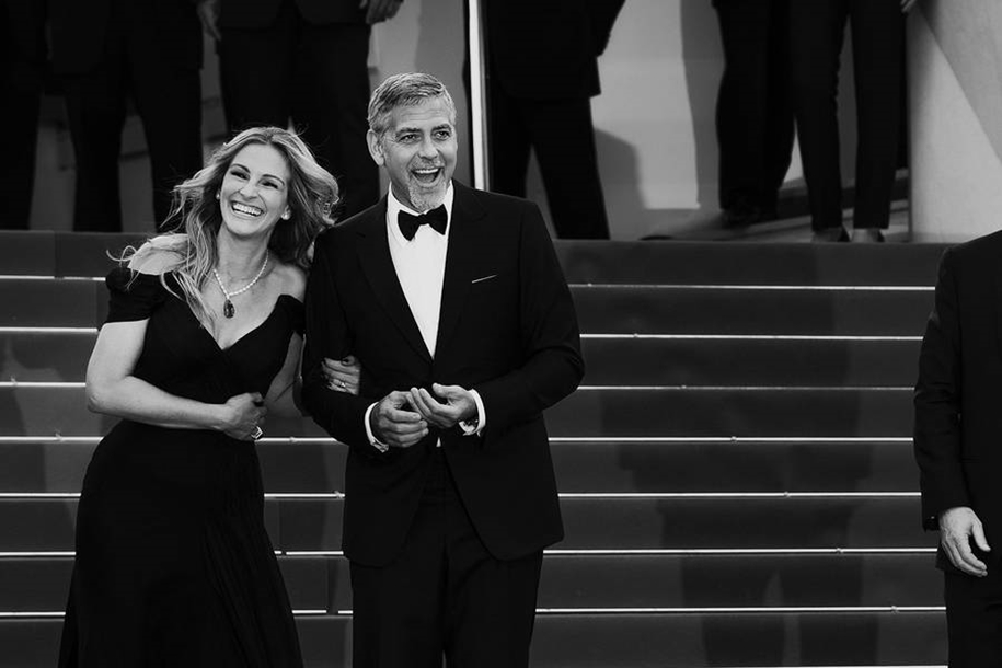 Black-and-white photos of movie stars with the Cannes film festival 2016 in the lens of Vincent Desailly 01
