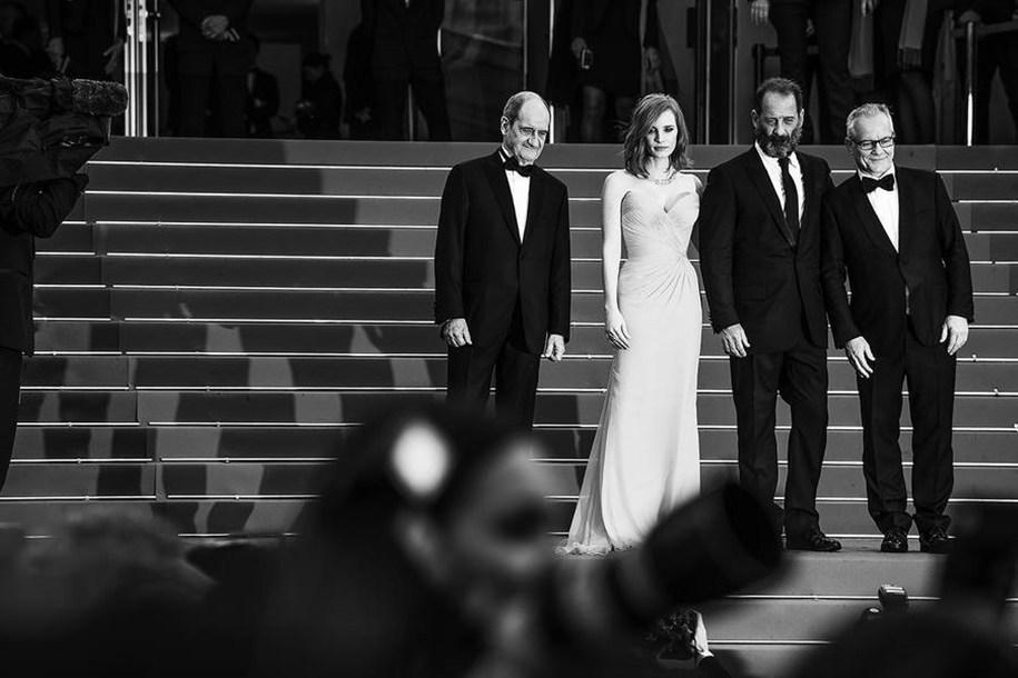 Black-and-white photos of movie stars with the Cannes film festival 2016 in the lens of Vincent Desailly 14