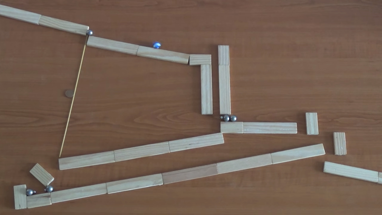 Creative amazing video of a Rube Goldberg machine