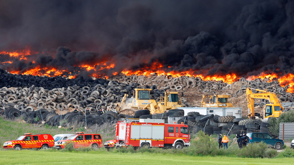 In Europe burned largest landfill tires 09