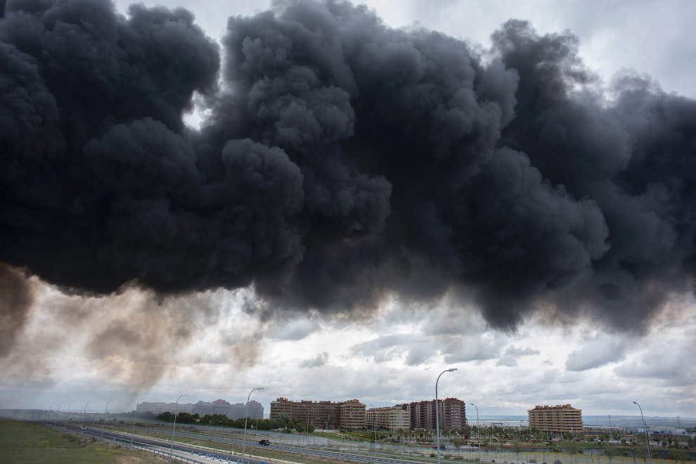 In Europe burned largest landfill tires 13