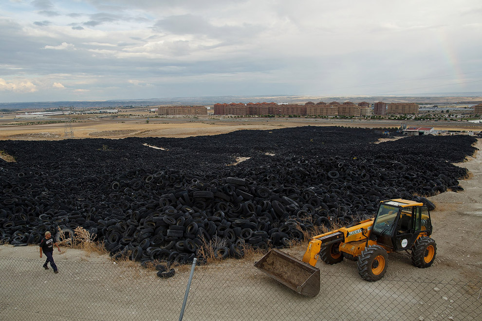 In Europe burned largest landfill tires 15