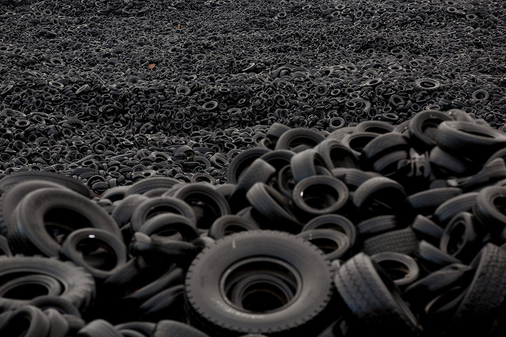 In Europe burned largest landfill tires 16
