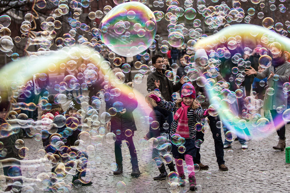 Positive photo with soap bubbles 01