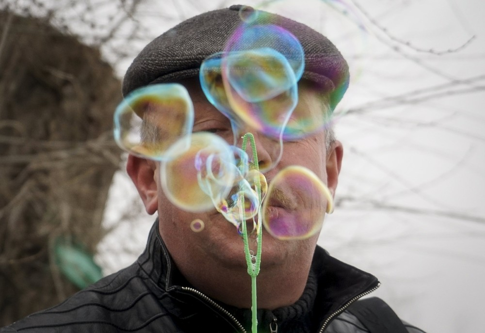 Positive photo with soap bubbles 08