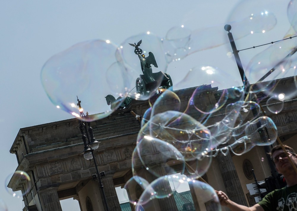 Positive photo with soap bubbles 16
