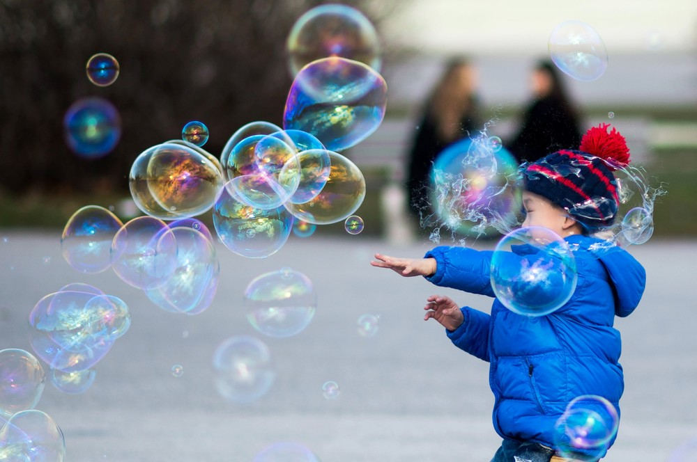 Positive photo with soap bubbles 17