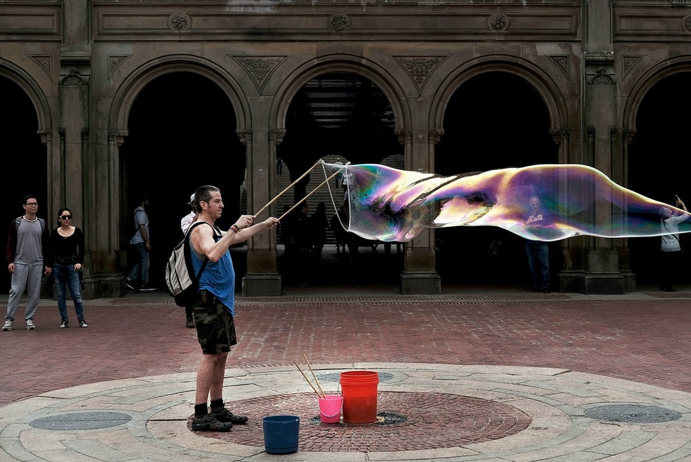 Positive photo with soap bubbles 18