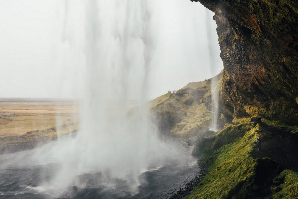 Scenic Norwegian waterfall, Seljalandsfoss 04