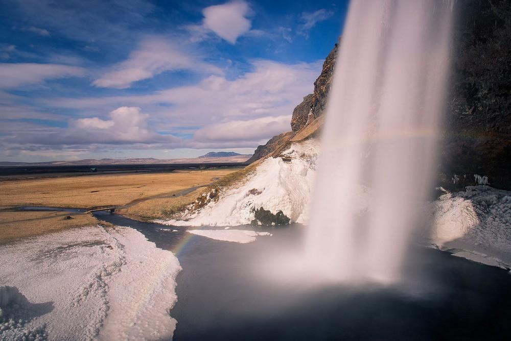 Scenic Norwegian waterfall, Seljalandsfoss 05