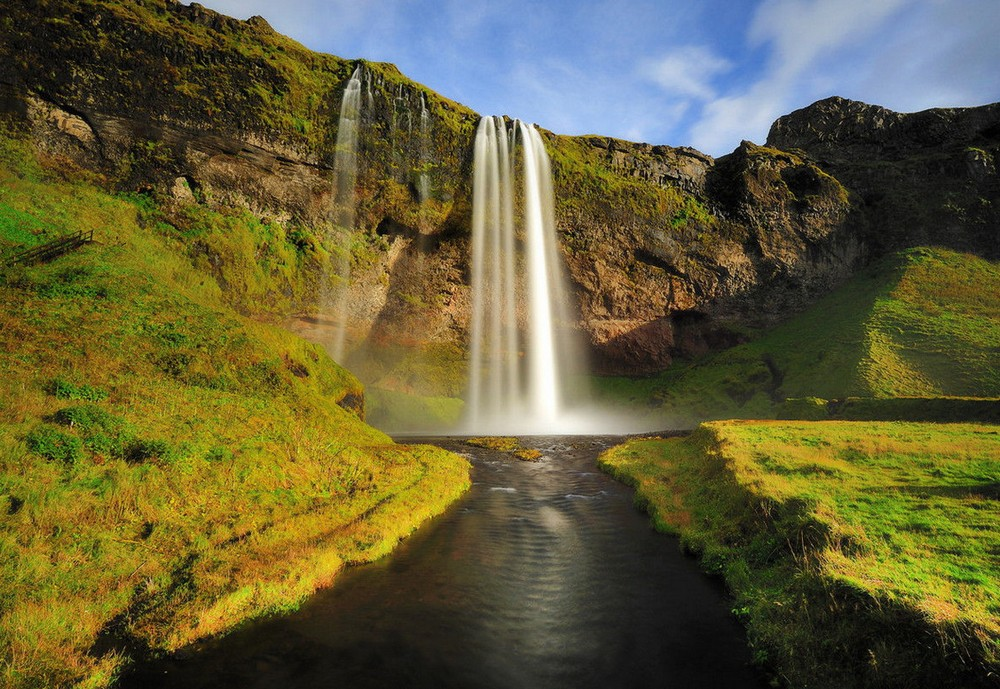 Scenic Norwegian waterfall, Seljalandsfoss 11