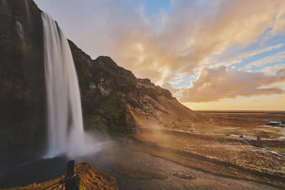 Scenic Norwegian waterfall, Seljalandsfoss 12