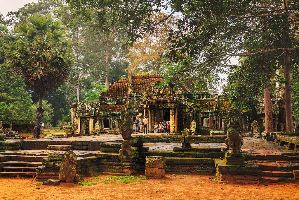 The Angkor Wat. City in the jungle 11