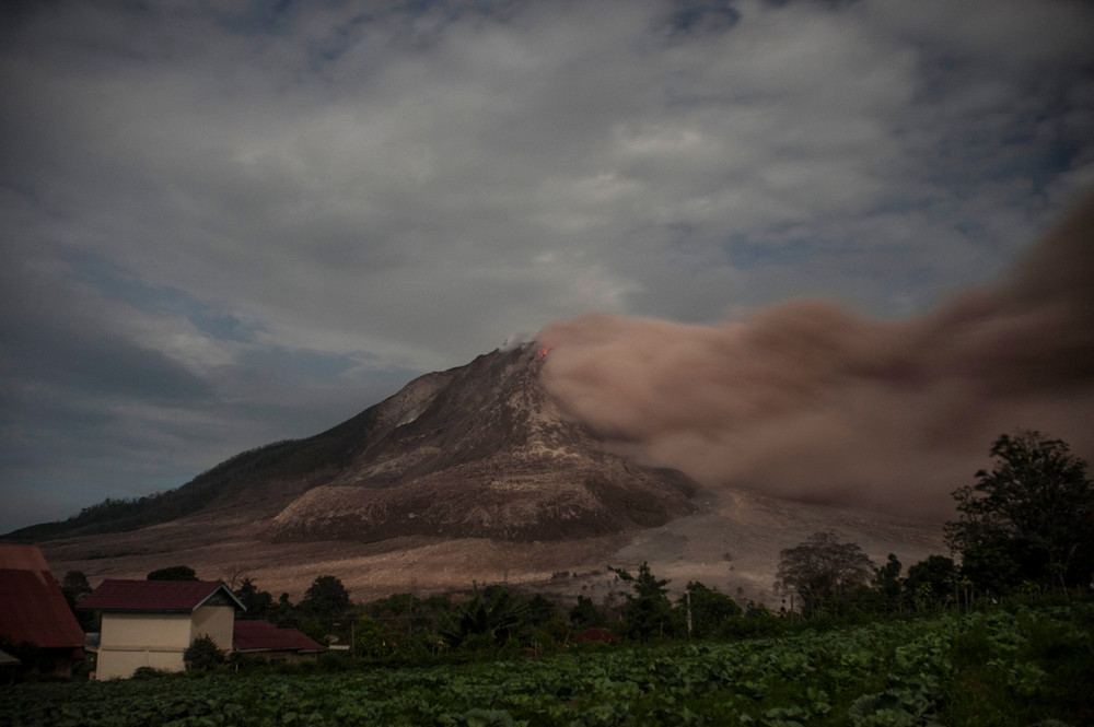 The effects of the eruption of a volcano in Indonesia 10