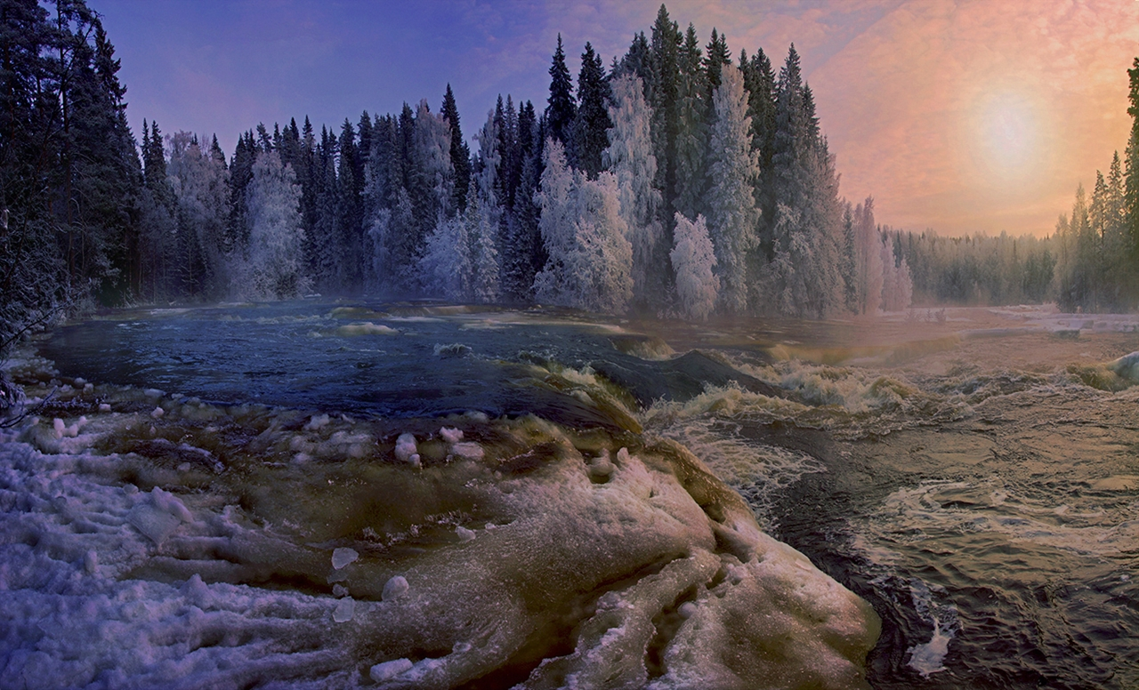 The rapids of the river Janisjoki. South Karelia 01