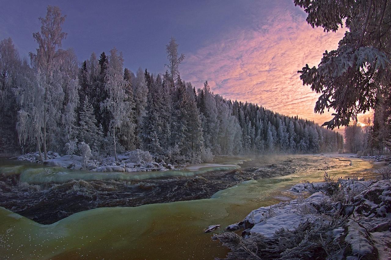 The rapids of the river Janisjoki. South Karelia 07